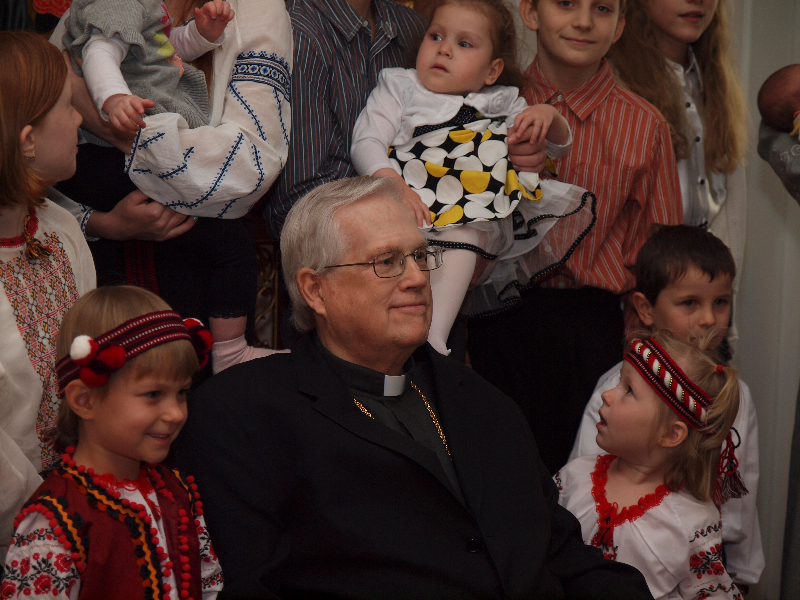 Bishop Richard with St. Sophia Youth