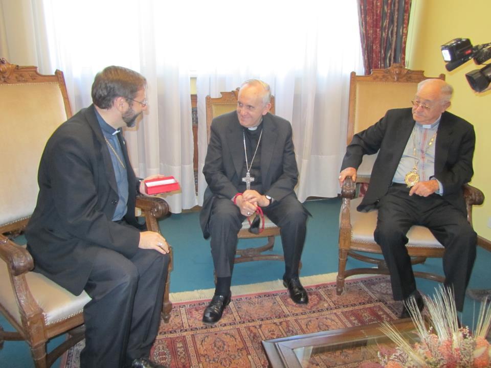 Patriarch Sviatoslav With Pope Francis From RISU